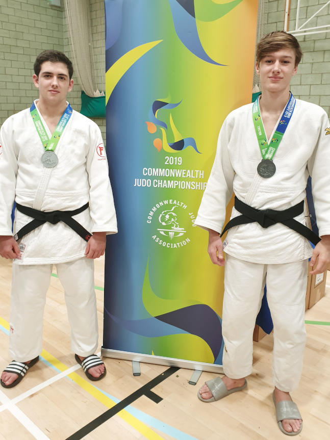 Sean Tooby and Logan Campbell, Commonwealth cadet Judo medalists